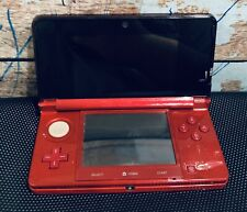 NINTENDO 3DS CTR-001 USA FLAME RED HANDHELD Console SYSTEM FOR PARTS OR REPAIR