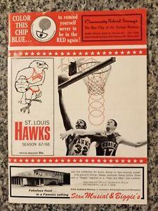 1st year 1967-1968 San Diego Rockets NBA @ Hawks program Hondo Havlicek Bridges