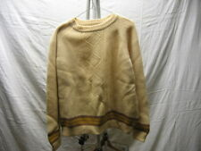 Vintage Made in Italy L 94% Wool 6% Nylon Sweater Beige