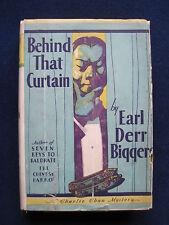 EARL DERR BIGGERS - BEHIND THAT CURTAIN - A Charlie Chan Mystery