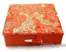SALE Big One Red square 90*90mm Multi Purpose China Silk Jewelry Gift Box-box18