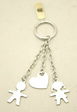 Keyring Silver with Charms Baby Baby Girl Heart