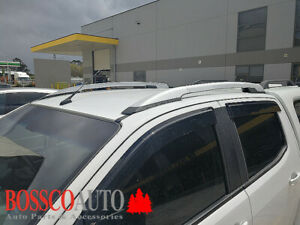 Silver and Black Roof Rails Suitable For Holden Colorado 2012-2020