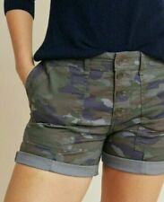 Anthropologie der Wanderer CAMO Utility Shorts Damen Camouflage Bnwt UK 16