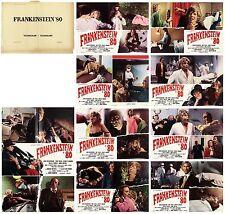 Frankenstein 80 Set Fotobusta 8 + Séjour Cinéma Film 1973 Midnight Horreur Lobby