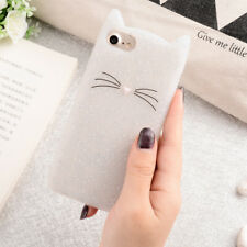 Soft Silicone Phone Case For iPhone 7 8 Cute Cartoon Cat Clear Protect Cover 4.7