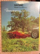 1983 Speery New Holland Haybine Mower Conditioners 16 Page Brochure