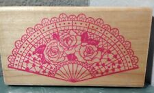 New Listing Rubber Stamp Set *New*. Oriental Fan