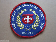 1995 World Armed Forces Day BSA Woven Cloth Patch Badge Boy Scouts Scouting
