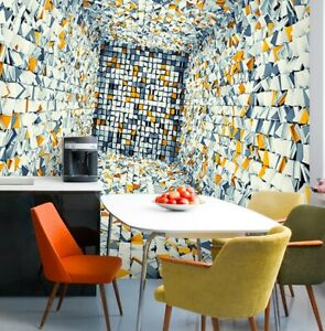 3D Cubes Blocks Wallpaper 350 (w) x 230 (h) cm