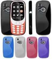 S-Gel Wave Tough Shockproof Phone Case Gel Cover Skin Nokia 3310