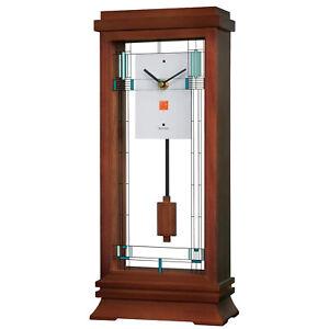 Bulova Clocks B1839 Willits Wooden Modern Mantel Clock with Pendulum, Walnut
