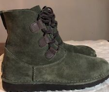 Ugg Elvi Women Boots Spruce Size 10 Very Nice NEW* AUTHENTIC Fast Shipping