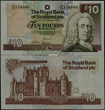 Great Britain Uk Scotland Plc 2007 Commemorative Banknotes 10 Pounds Unc