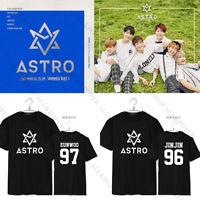 KPOP ASTRO T-shirt Unisex SANHA Short Sleeve Summer Vibes 2nd Mini Album Tops