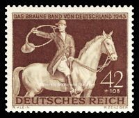EBS Germany 1943 Brown Ribbon Braunes Band Horse Race Michel 854 MNH**