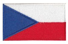Czech Republic Flag Small Iron On / Sew On Patch Badge 6 x 3.5cm Česká republika