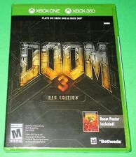 Doom 3 -- BFG Edition Microsoft Xbox One + 360! *New! *Free Poster! *Free Ship!