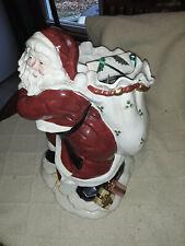 Fitz & Floyd Santa Claus Centerpiece Vase 16.5� Classic