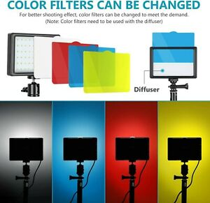 """2x Neewer Pack Tall 45"""" Dimmable Colour Color LED Video Photography Camera Light"""