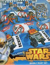 DISNEY Star Wars Join the Rebellion Lic DOUBLE/QUEEN Quilt Cover Set UK Size NEW