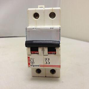 LEGRAND 06913 DOUBLE POLE MCB 10mA C2 CIRCUIT BREAKER