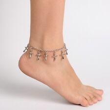 Elegant Fußkettchen Fusskette Fußschmuck Kreuzen Silber Neu Top