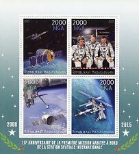 Madagascar 2015 MNH International Space Station 1st Manned Mission 4v M/S Stamps
