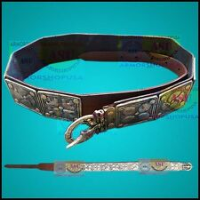 ROMAN LEGION APRON BELT W/BRASS ACCENTS ROMAN COLLECTIBLE ARMOR LEATHER BELT