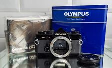 Olympus OM-2n . Full strip down service in 2019 . Olympus tin box + manual