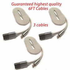 3x (6ft) USB Cable Charger for phone 6 6S Plus 5C