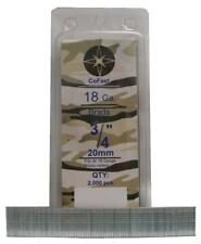 CoFast 18 Ga 3/4 inch Straight Finish Brad Air Nails fit Most 18 Ga Nailers 2M