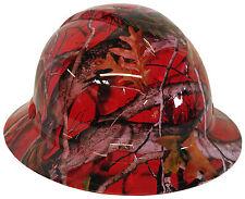 Hard Hat Full Brim Red Vista Camo w/ Free BRB Customs T-Shirt