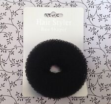 "SMALL 3"" BLACK MESH DONUT RING BUN SHAPER MAKER HAIR STYLE VOLUME UP DO STYLER"