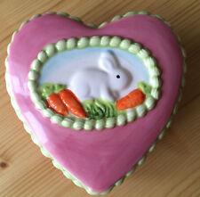 Porta gioie scrigno contenitore Scatola Coniglio Coniglietto cuore Nuovo!