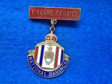 WWII HOME FRONT NATIONAL SAVINGS 7 YEARS SERVICE MEDAL & SUSPENDER, FATTORINI