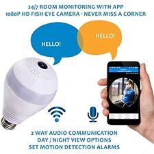 360 wifi fish eye panoramic camera bulb -smart bulb wifi camera-live stream came