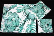 3 C-Home Monstera Green Leaves Decorative Velour Bath Hand Towel Washcloth New