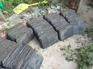 """Reclaimed roof slate over 800 sized 8"""" x 14"""" - great condition"""