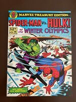 Spider-Man vs Hulk at The Winter Olympics NM- (9.2) White Pages!!