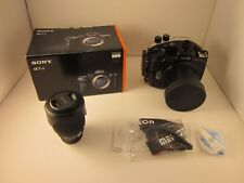 34421) Sony A7RII DSLR Camera, Underwater Housing, 28-70mm Lens, NEW COND.