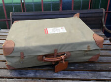 Antiker dekorativer Leder Reise Koffer Oldtimer Reisekoffer mit Schutzhülle