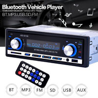 Car Stereo Player Bluetooth USB MP3 FM Radio In Dash Receiver Din AUX