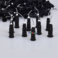 Disposable Pre-Bent Needle Tips 200pcs Black 20G Diameter 0.88mm For Dentiestry