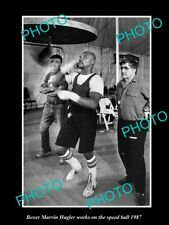 Old 8x6 Historic Photo Of Boxer Marvin Hagler On The Speed Ball c1987