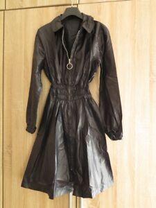 Gangsters Mantel Regenjacke Kleid S M glanz Nylonjacke shiny rain dress coat