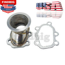 """FOR T25 T28 GT25 GT28 To 2.5"""" 63mm V-band Clamp Flange Turbo Down Pipe Adapter U"""