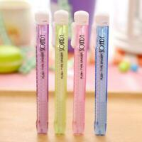 1PC Creative Cute Students Pen Shaped Eraser Rubber Stationery Kid Gift Toys