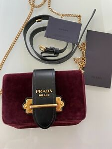 Prada Cahier Velvet Belt Bag
