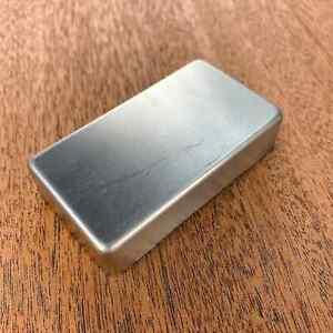 Humbucker Cover - Nickel Silver Raw - Closed - GP-HNSRNH